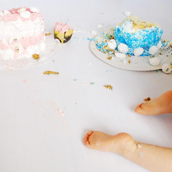 Doppel-Cake-Smash-Party