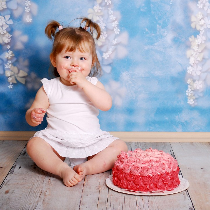 Cake-Smash mit Anna-Carina